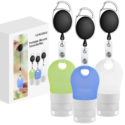 Linkidea Portable Silicone Travel Bottles Set (3-Pack)