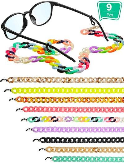 Frienda Acrylic Glasses Chain (9-Pack)