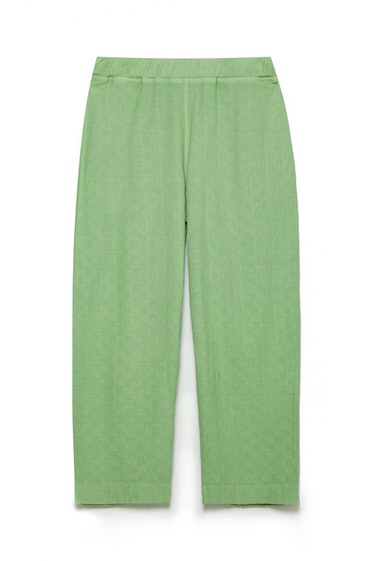 KOTTONS Stamped Wide-Leg Joggers in Matcha Green