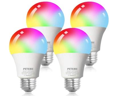 Peteme Smart Light Bulbs (4-Pack)