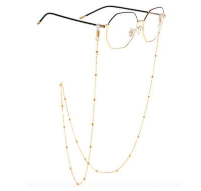 AllenCOCO Gold-Plated Eyeglass Chain