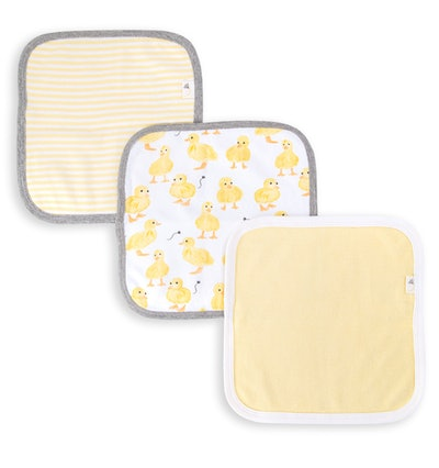 Little Ducks Organic Baby Washcloths 3 Pack