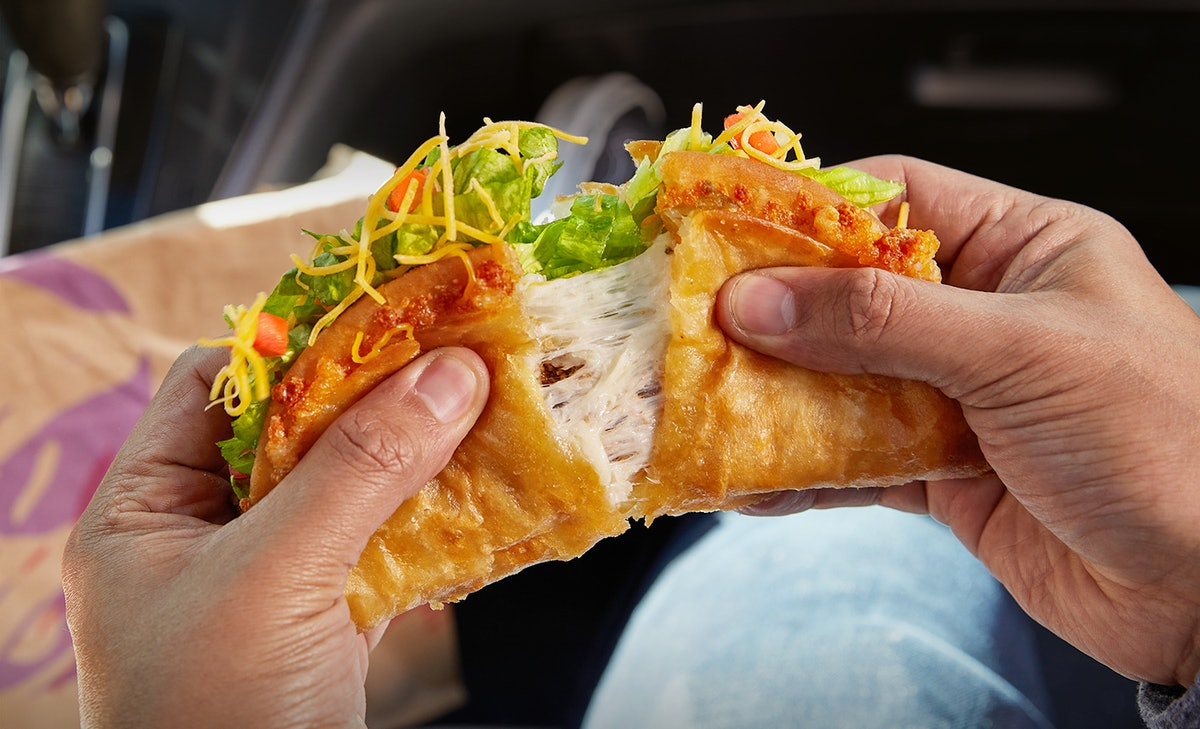 Taco Bell's Quesalupa for 2021 features twice the cheese as the original.