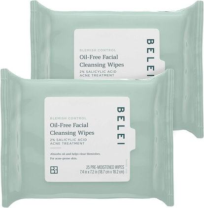 Belei by Amazon: Oil-Free Facial Cleansing Wipes, (2-pack of 25 wipes)