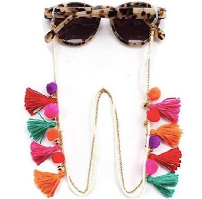 VINCHIC Colorful Beaded Eyeglass Chain