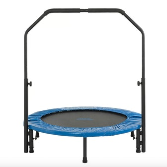 40-in. Mini Folding Rebounder Fitness Trampoline with Adjustable Handrail