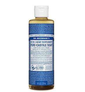 Dr. Bronner's Pure Castile Soap, Hemp Peppermint, 8 oz.