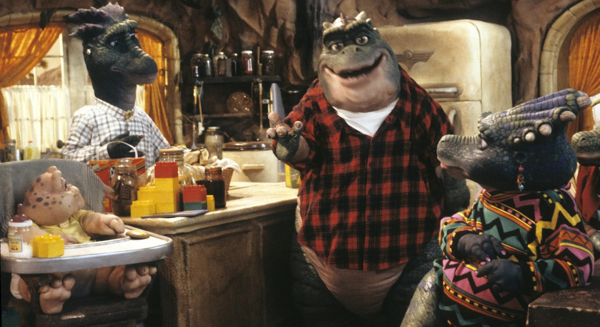 still from Dinosaurs TV show