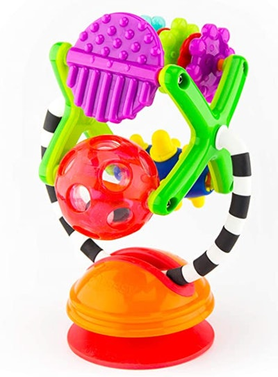 Teethe & Twirl Sensation Station 2-in-1 Suction Cup High Chair Toy