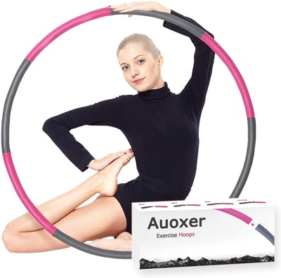 Auoxer Fitness Exercise Weighted Hoops