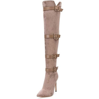 XYD Buckled Over-The-Knee Boots