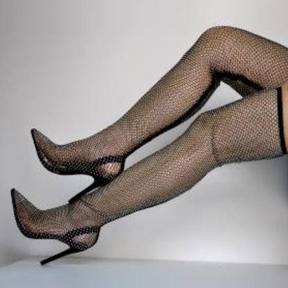 Richealnana Diamante Over-The-Knee Boots