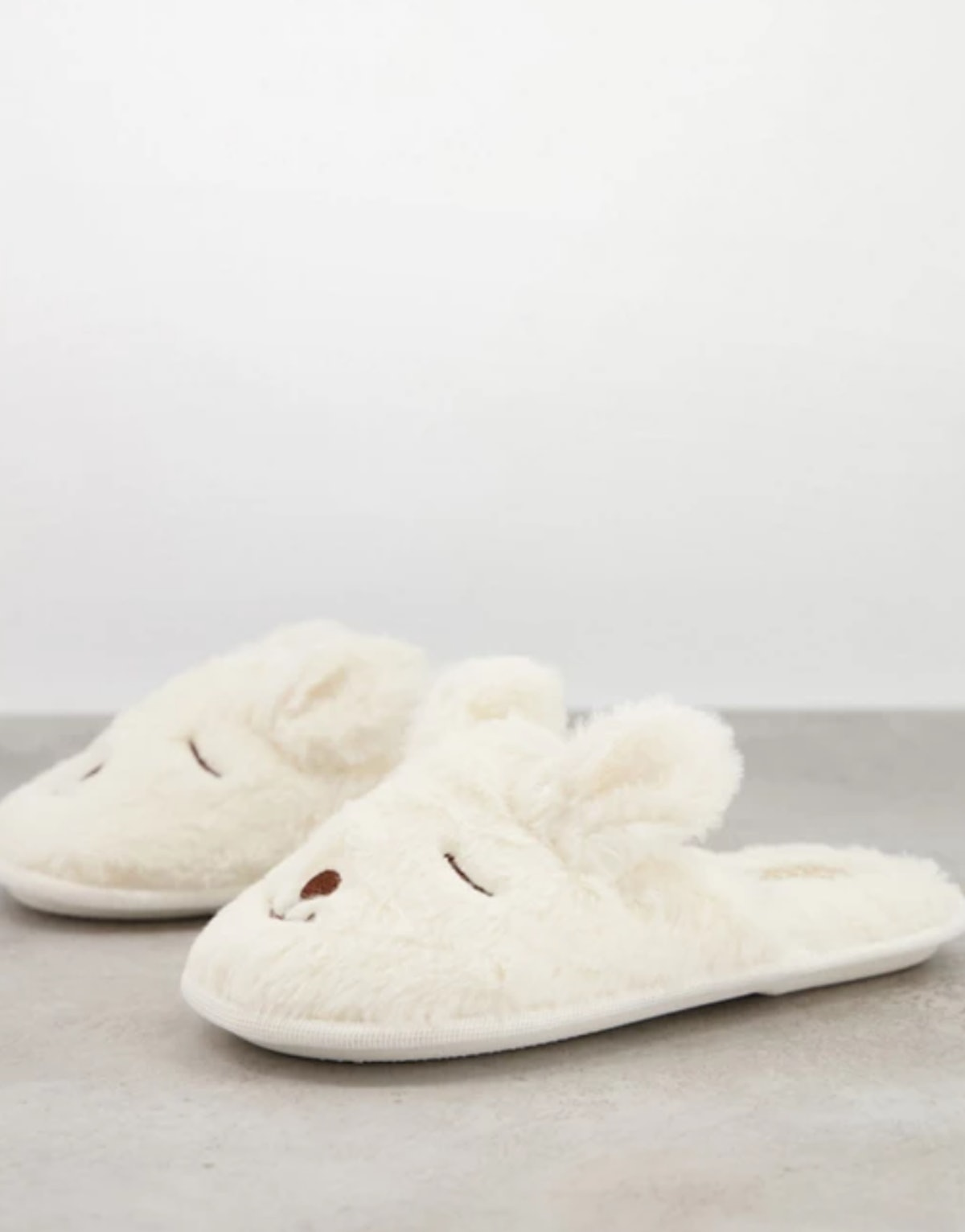 Truffle Collection Bunny Slippers In Cream