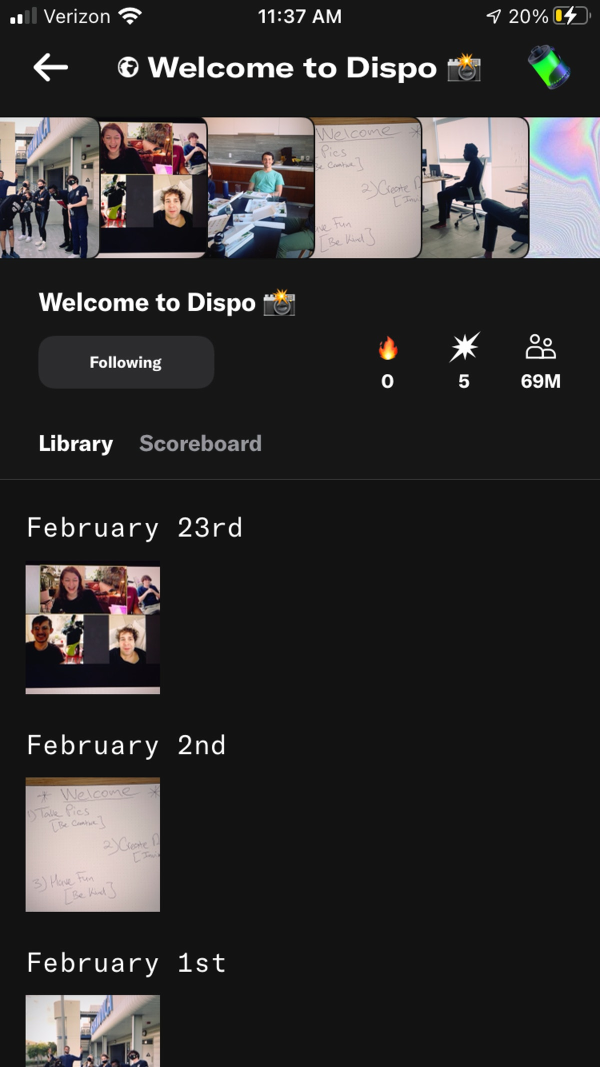 It's so easy to use the Dispo app, which is now out of beta.