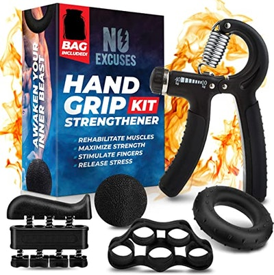 KEYCONCEPTS Grip Strength Trainer Kit (5-Pack)
