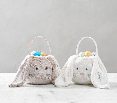 Long Ear Fur Bunny Easter Treat Bucket
