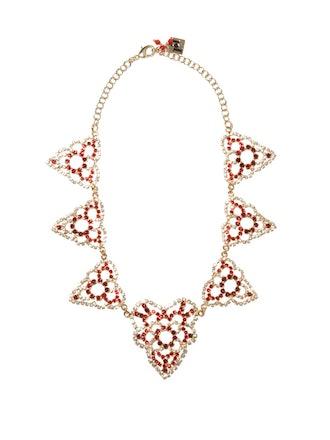 Heart Crystal-Embellished Necklace