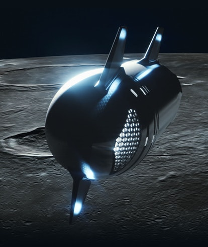 The SpaceX Starship that the winners of the dearMoon contest will fly aboard.
