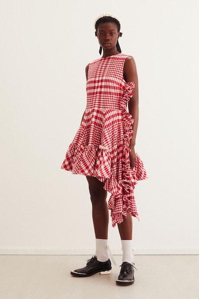 H&M x Simone Rocha Asymmetric Cotton Dress