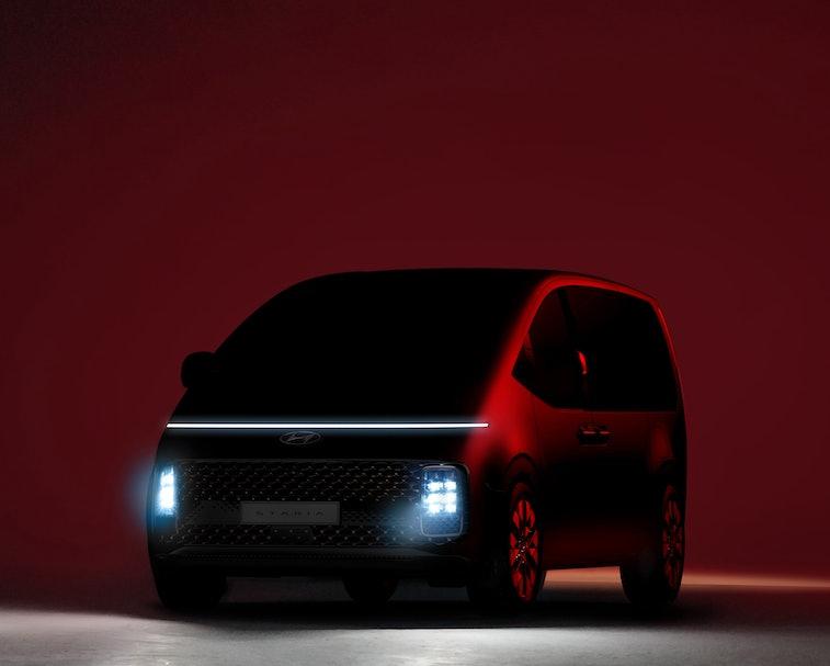 Hyundai unveiled its new Staria minivan with a futuristic spaceship design.
