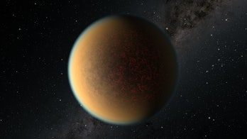 An exoplanet with a gaseous envelope.