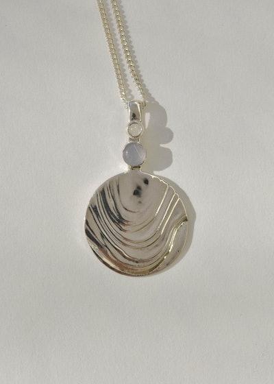 Sterling Silver Basalt Medallion