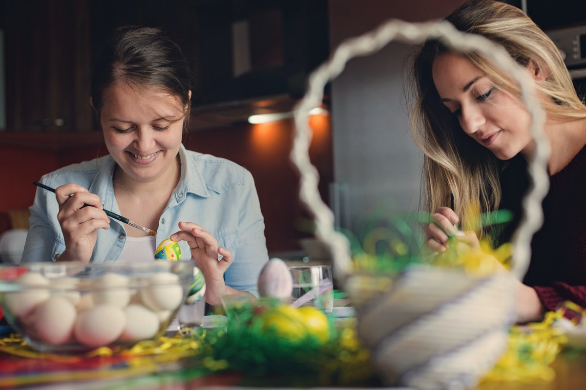 Throwback Easter Egg Painting
