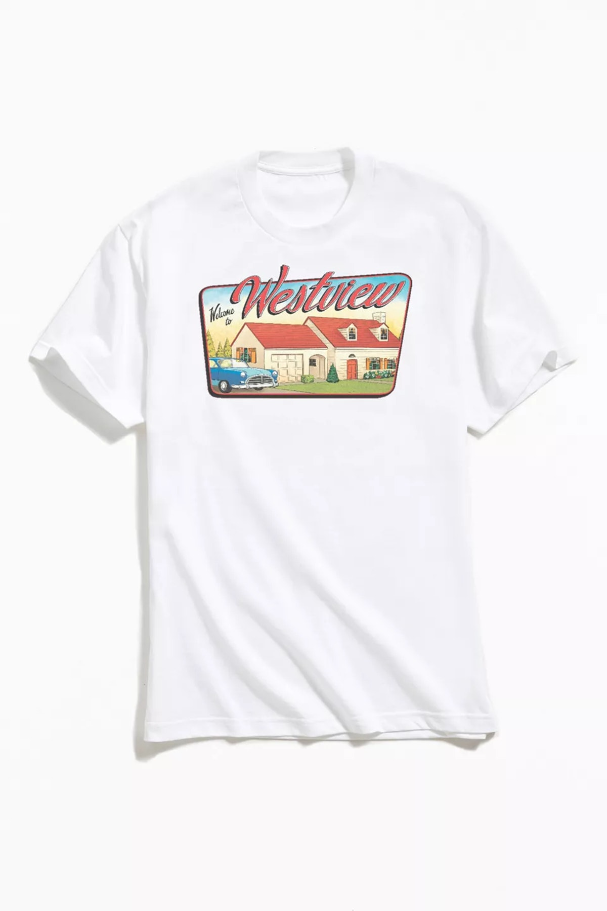 Urban Outfitters WandaVision Welcome To Westview Sign Tee