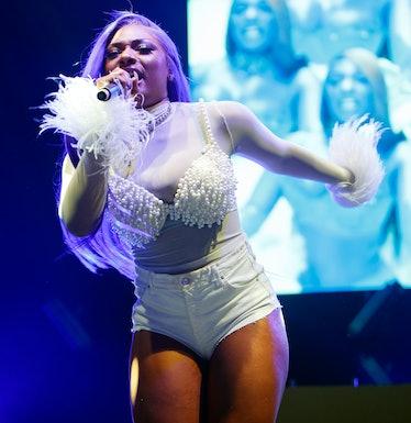 Megan performs at the O2 arena