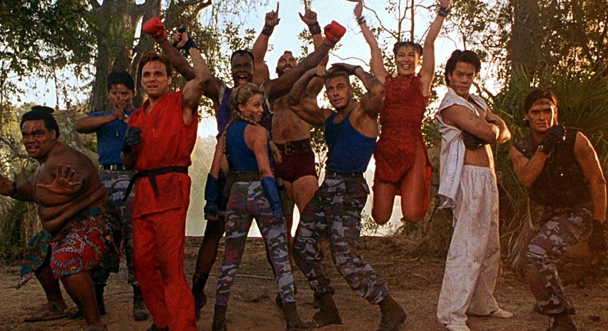 cast of street fighter the movie posing