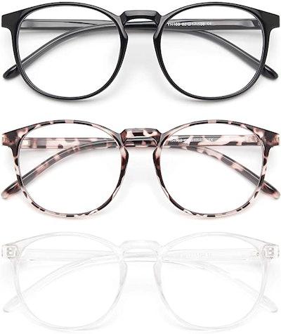 IBOANN 3 Pack Blue Light Blocking Glasses
