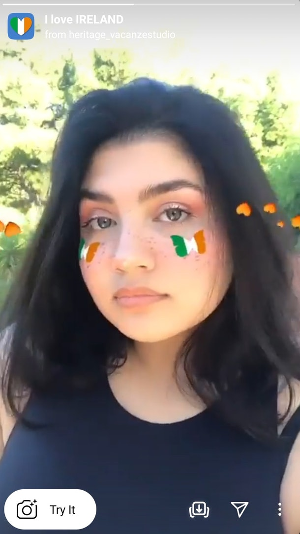 These Instagram filters for St. Patrick's Day 2021 include Irish flags and freckles.