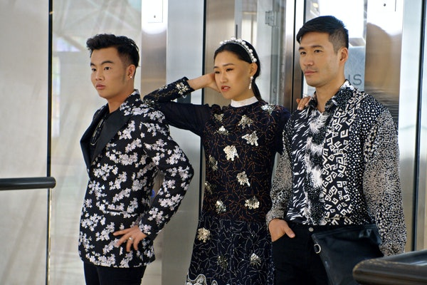 "Kane Lim, Jaime Xie, and Kevin Kreider in Episode 8 ""Will You Marry Me?"" of 'Bling Empire' Season 1"