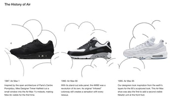 "Nike ""The History of Air"" timeline"