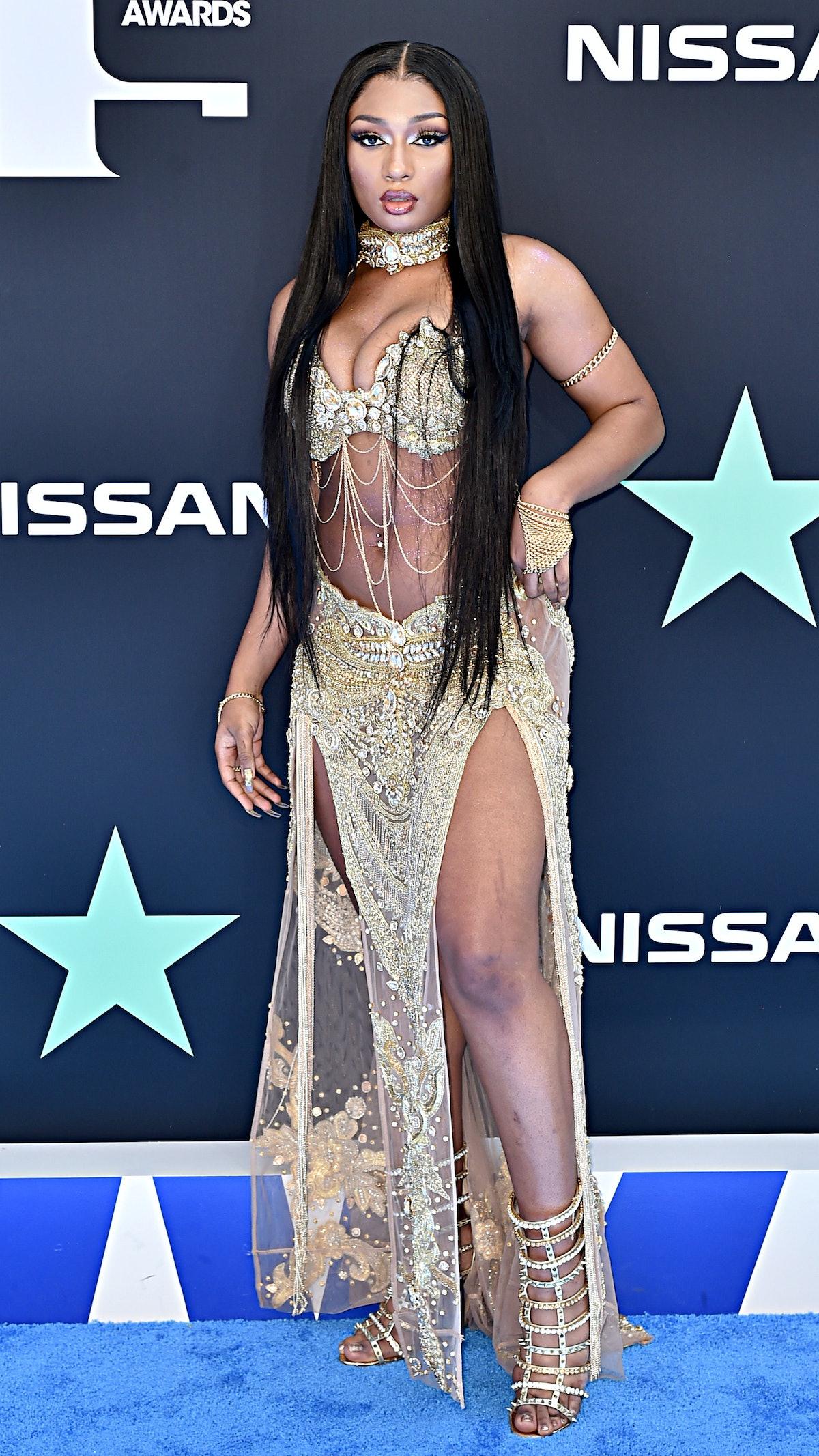 Megan Thee Stallion at BET awards carpet