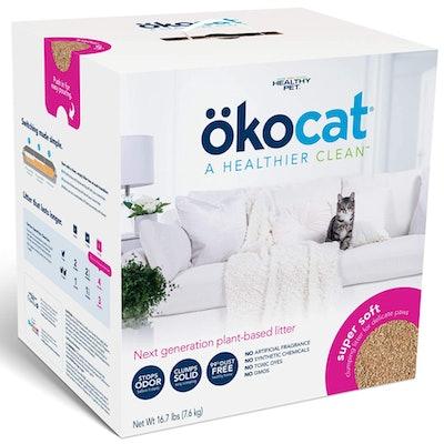 Okocat Super-Soft Natural Wood Clumping Cat Litter (16.7 Pounds)