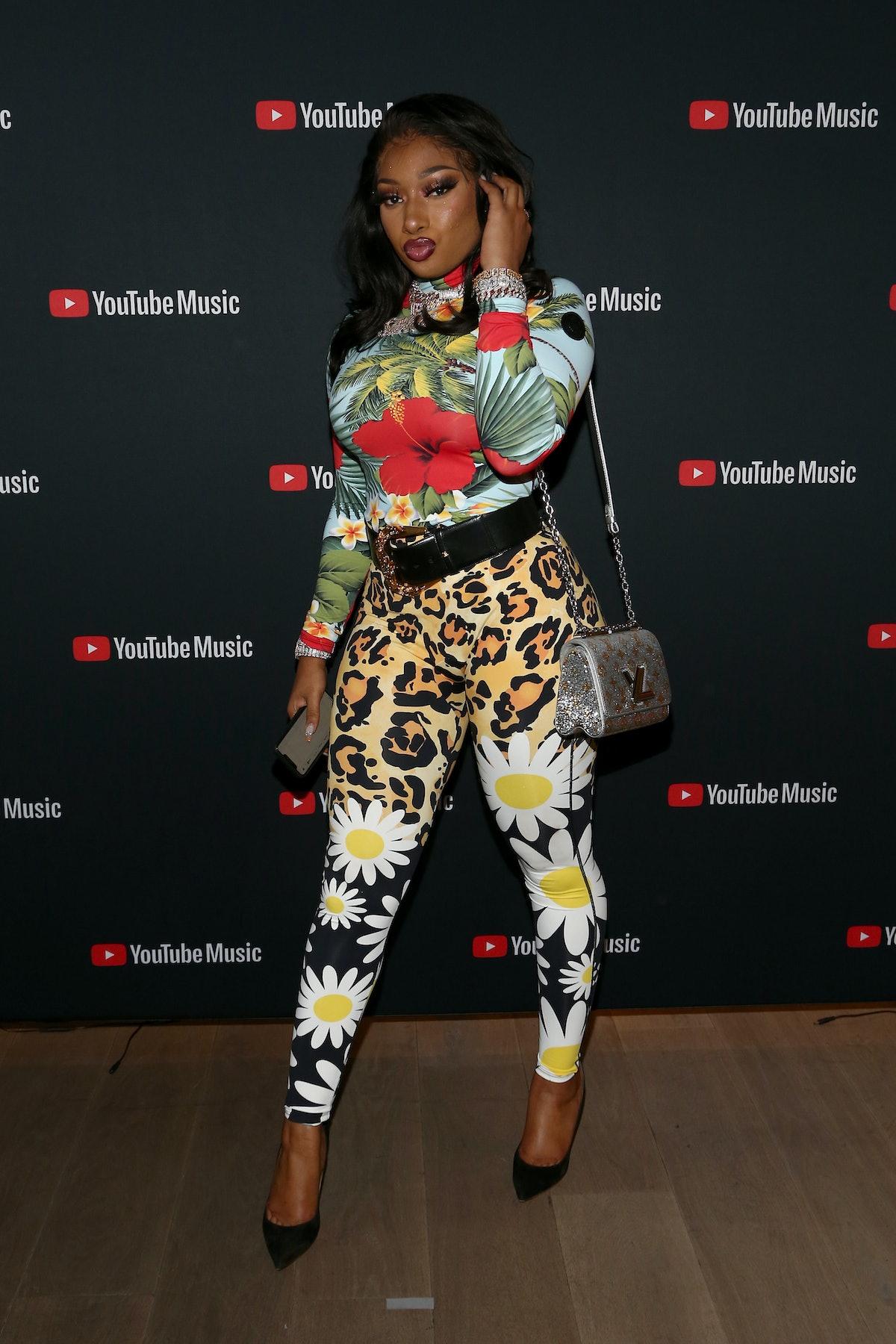 Megan wearing alot of floral patterns