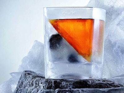 Ice Cubist Slanted Ice Cube Mold & Whiskey Glass