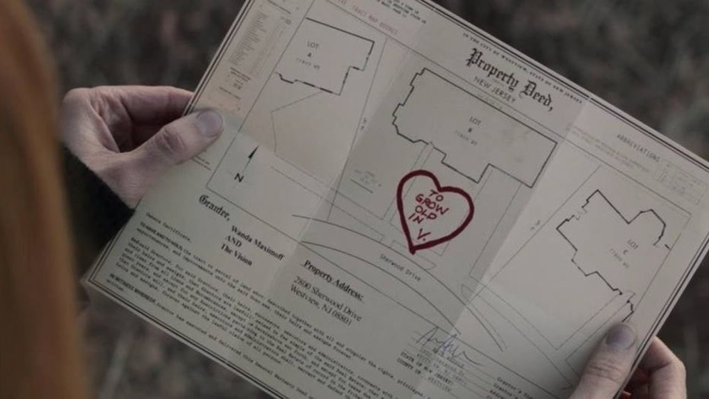 A heart drawn on the property deed in 'WandaVision'