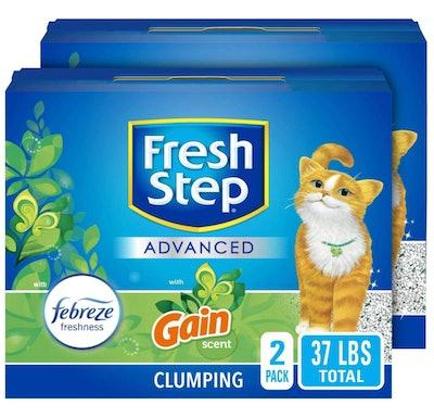 Fresh Step Advanced Cat Litter, (18.5 Pounds, 2-Pack)