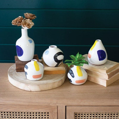 Hand Painted Vase Set