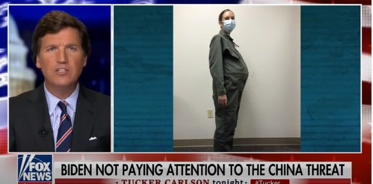 Tucker Carlson's rant against pregnant women in the military is getting a big response.