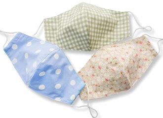 HOPE LOVE SHINE Patterned Fabric Face Masks (3-Pack)