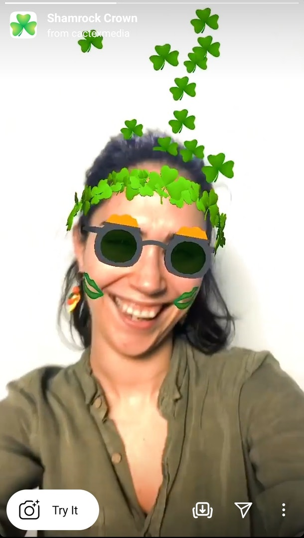 These Instagram filters for St. Patrick's Day 2021 include so many shamrocks.