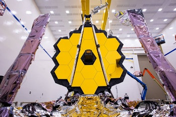 An image of the James Webb Space Telescope