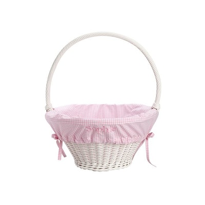 White Wicker Easter Basket Set