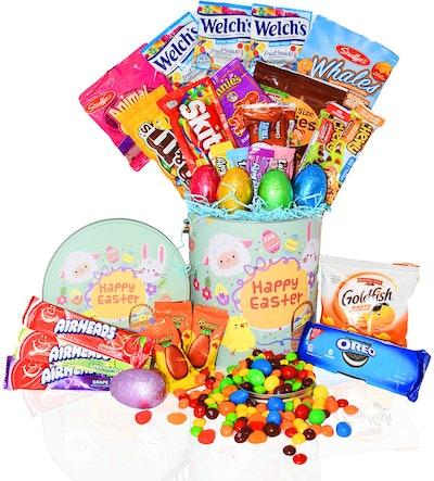 Easter Snack Gift Tin Basket