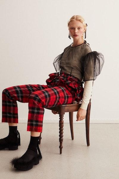 H&M x Simone Rocha Flounce-Trimmed Crop Pants