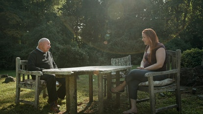 Frank Maco and Dylan Farrow in 'Allen v. Farrow' via HBO press site.