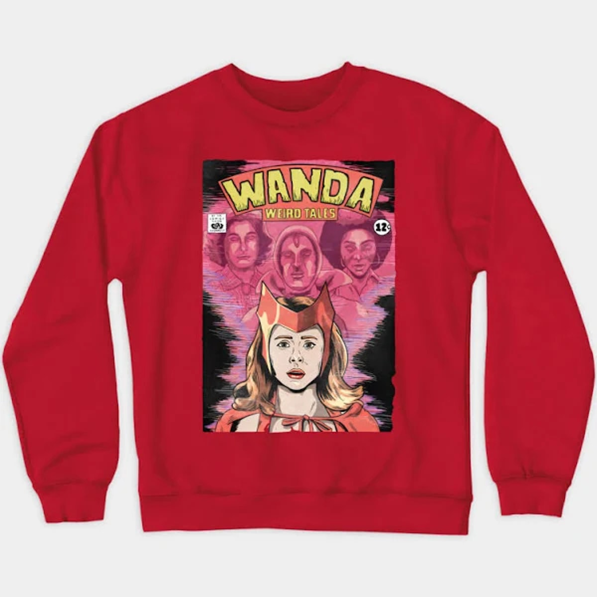 Wandavision T-Shirt Wanda Weird Tales Crewneck Sweatshirt